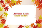 Autumn Foliage Leafs Frame — Vector de stock