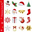 Christmas icons set — Stock Vector