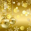 Royalty-Free Stock Vector Image: Gold christmas background
