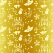 Royalty-Free Stock Vector Image: Seamless gold christmas pattern