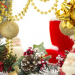 Christmas luxury frame — Foto Stock