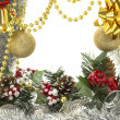 Foto Stock: Christmas luxury frame