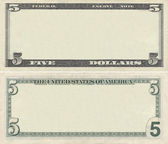 Clear 5 dollar banknote pattern — Fotografia Stock