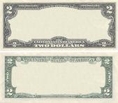 設計の目的のために 2 ドル紙幣パターンをクリアします。 — ストック写真