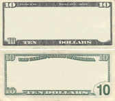 Clear 10 dollar banknote pattern — Stock Photo