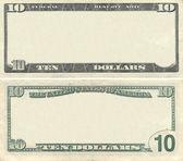 オフに 10 ドル紙幣パターン — ストック写真