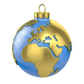 Christmas ball shaped as globe or planet, Europe part — Stock Photo