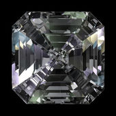 Asscher Cut Diamond top view — Stock Photo