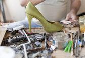 Desk shoemaker — Stock Photo
