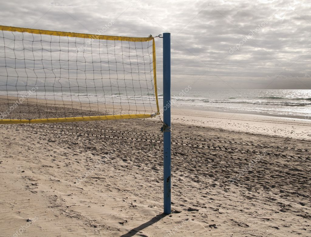 A net to play beach volleyball — Stock Photo #7670793