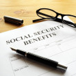 Social security benefits — Stockfoto