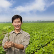 Portrait of a asian farmer - Stock Photo