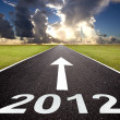 Road to the new year 2012 and sunrise — Stock Photo #7690066