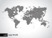 Toprak labirent harita kavramı — Stok Vektör