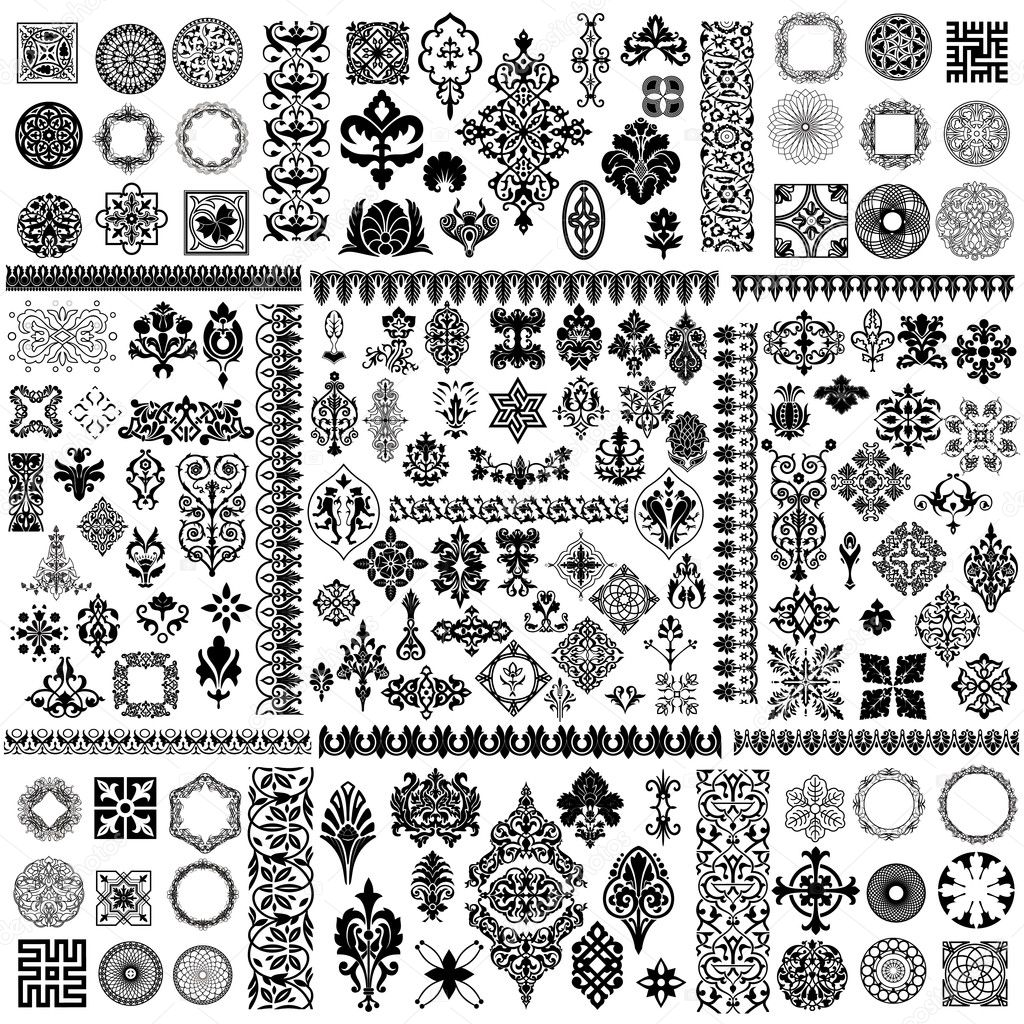 Large vector design elements set — Vektorgrafik #6818143