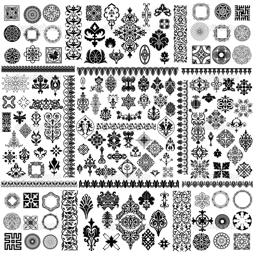 Large vector design elements set  Grafika wektorowa #6818143