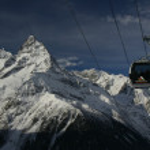 Ski resort of the Caucasus. Dombay — Stock Photo #7118565
