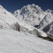 Ski resort of the Caucasus. Dombay — Stock Photo