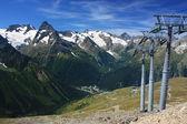 Ski resort of the Caucasus. Dombay — Stock Photo