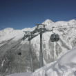 Mountain ski resort in the mountains of the Caucasus - Stockfoto