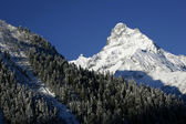 Mountain ski resort i bergen i Kaukasus — Stockfoto