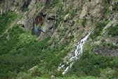 Rainbow on the waterfall — Stock Photo