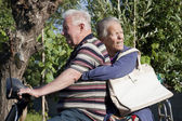 Elderly in motion — Stockfoto
