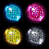 Disco Ball Set vector / eps10 — Stock Vector