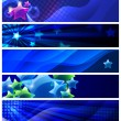 Set of five stars banners / vector / modern backgrounds — Stock Vector