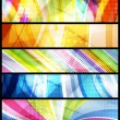 Set of five abstract  banners / vector / modern backgrounds — Stok Vektör