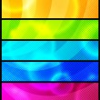 Set of five abstract  banners / vector / modern backgrounds — Векторная иллюстрация