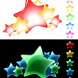 Vector Stars Set / easy use on white or black background / eps8 — Stock Vector
