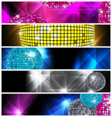 Disco and Nightclub/ set of 5 banners / vector eps10 — Vecteur