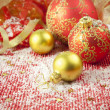 Stock Photo: Christmas Background / Holiday Decorations