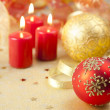 Christmas Background / Holiday Candles — Stockfoto