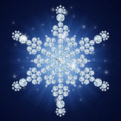 Diamond snowflake / Christmas background / art-illustration — Foto de Stock