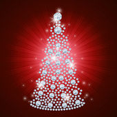 Diamond Christmas Tree / Holiday background / art-illustration — Stock Photo
