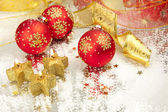 Christmas Background / Holiday Candles — Stock Photo