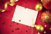Christmas cards / with copy space / red and gold — Stock Photo