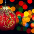 Christmas decoration on defocused lights background — Stock Photo #7646268