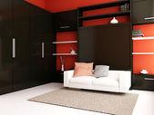 Modern livingroom — Stock Photo