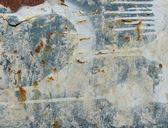 Niebieski nieczysty biały zardzewiały metal z wycieku kroplówki — Zdjęcie stockowe