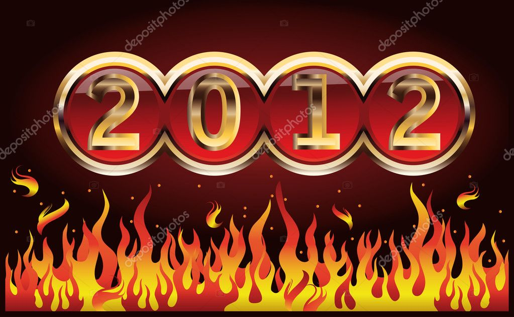 New Year 2012 in style vegas. vector illustration  Stock Vector #6887430