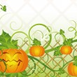 Halloween banner with pumpkin, vector illustration — Stock Vector
