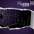 Halloween banner with spiderweb, vector illustration - Vettoriali Stock
