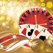 New 2012 year casino banner, vector illustration — Stock Vector