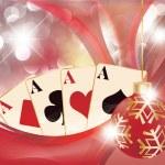 Christmas casino background , vector — Stock Vector