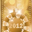 Poker chip 2012 new year, vector illustration — Stock Vector
