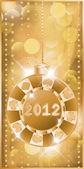 Poker chip 2012 new year, vector illustration — Stock Vector