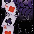 Halloween poker card, vector illustration — Stock Vector #7136498